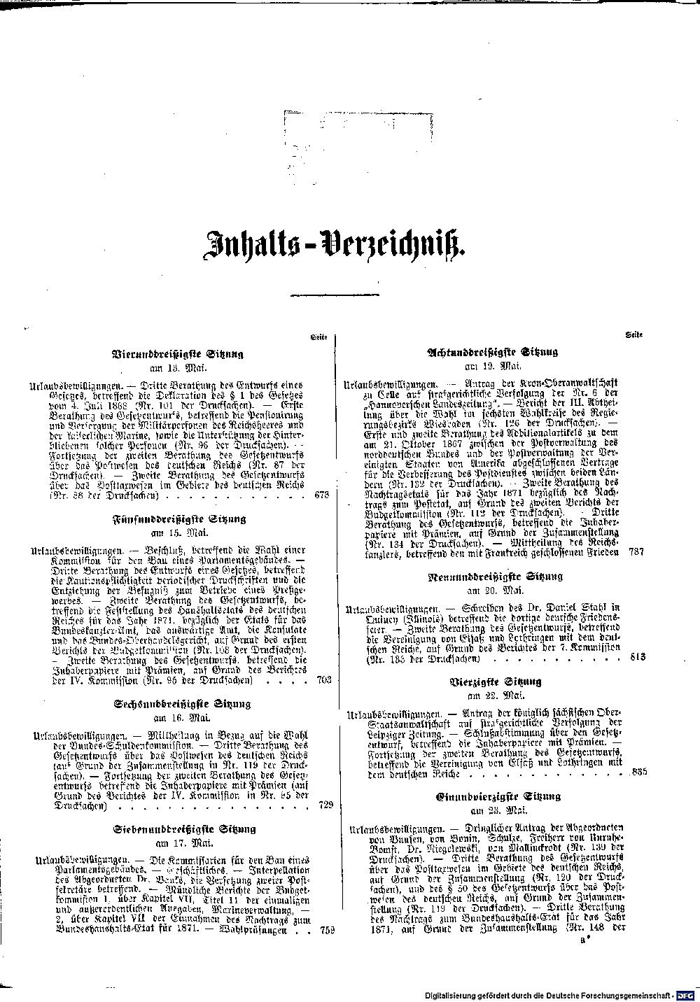 Scan of page III